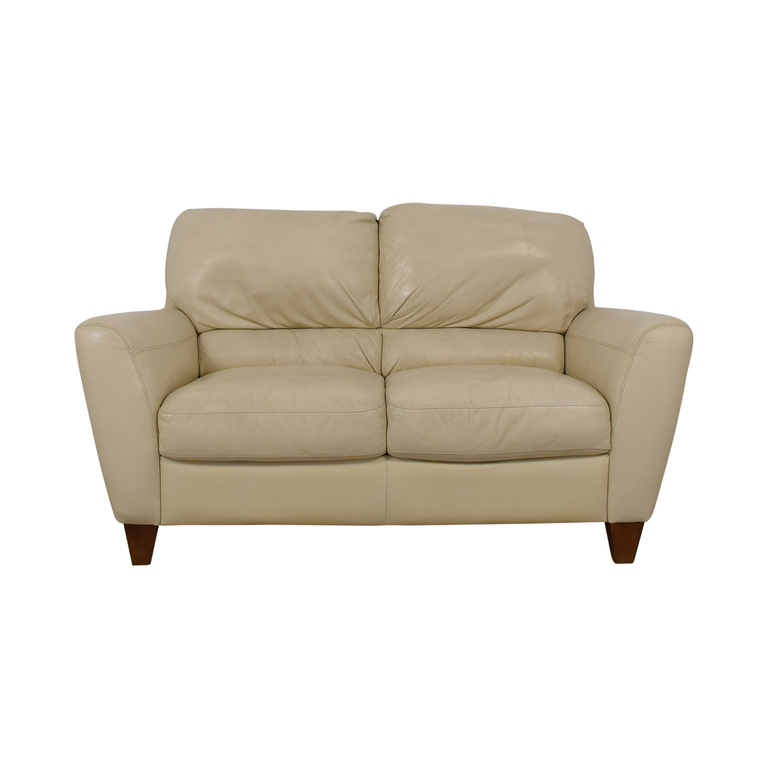 Macy's Macy's White Two-Cushion Loveseat dimensions