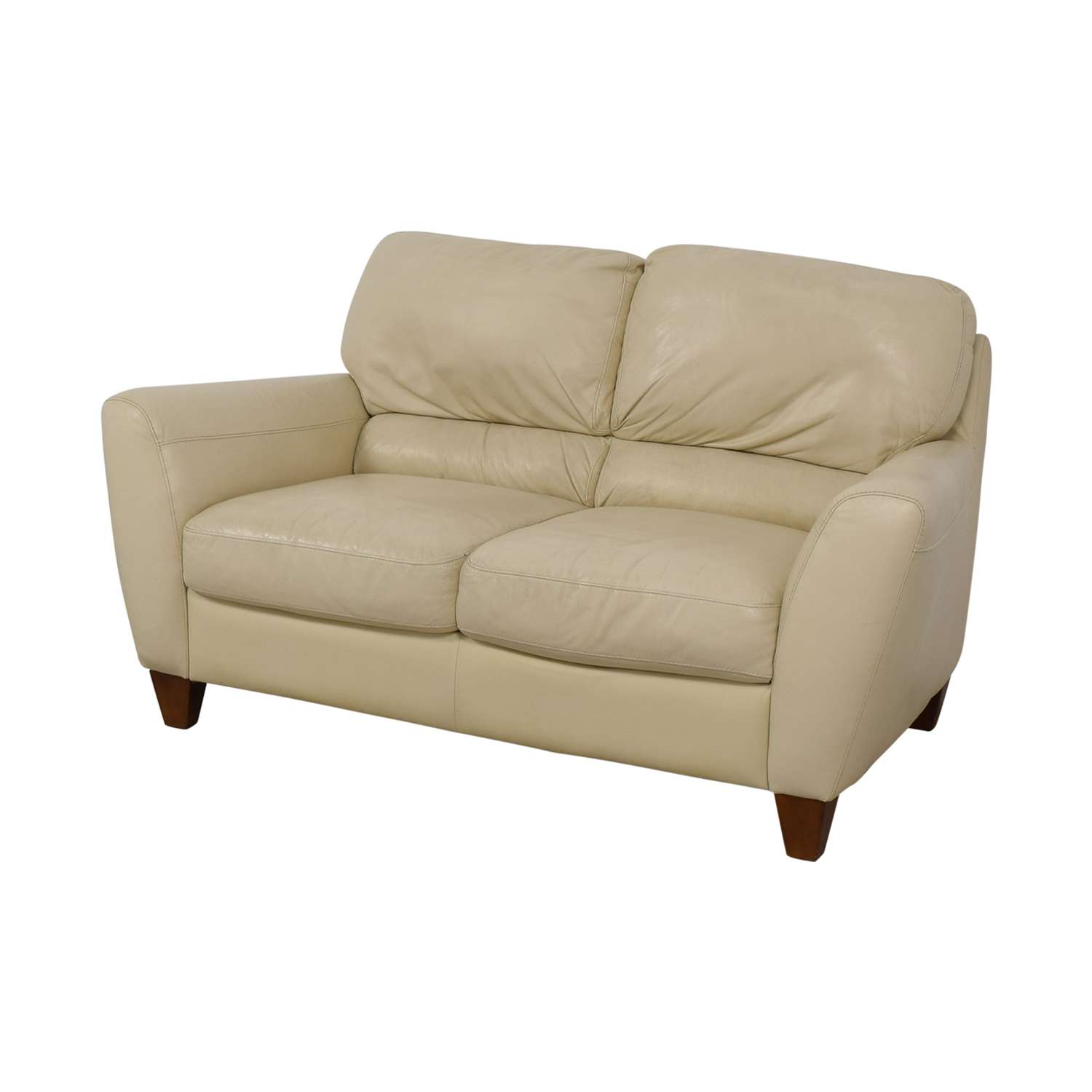 Macy's Macy's White Two-Cushion Loveseat for sale