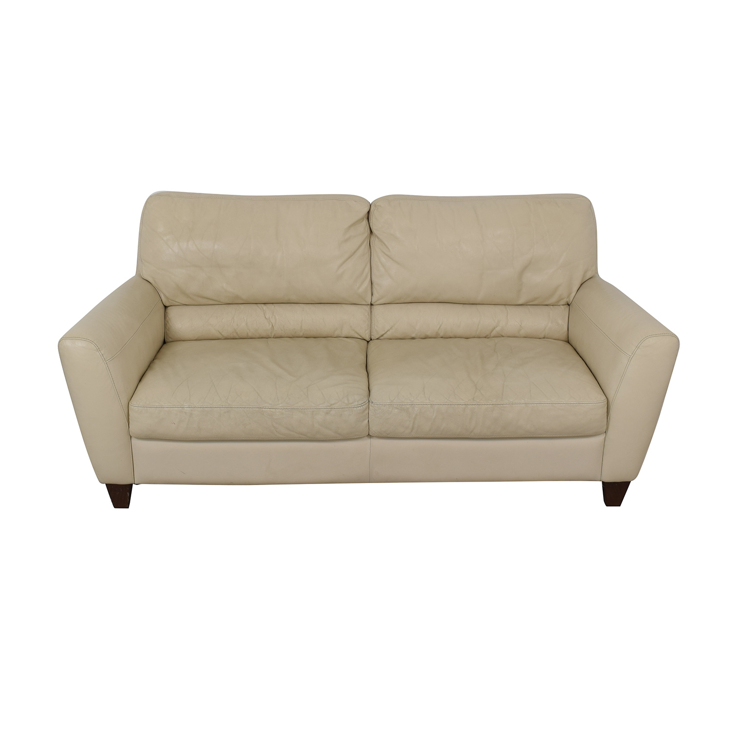 shop Macy's White Two-Cushion Sofa Macy's Sofas