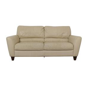 buy Macy's White Two-Cushion Sofa Macy's