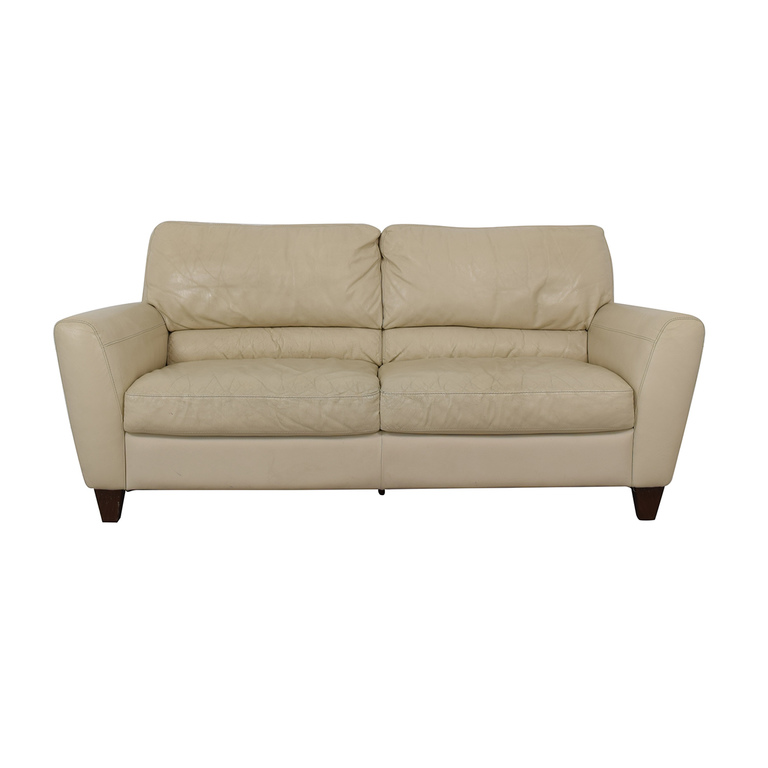 Macy's White Two-Cushion Sofa Macy's