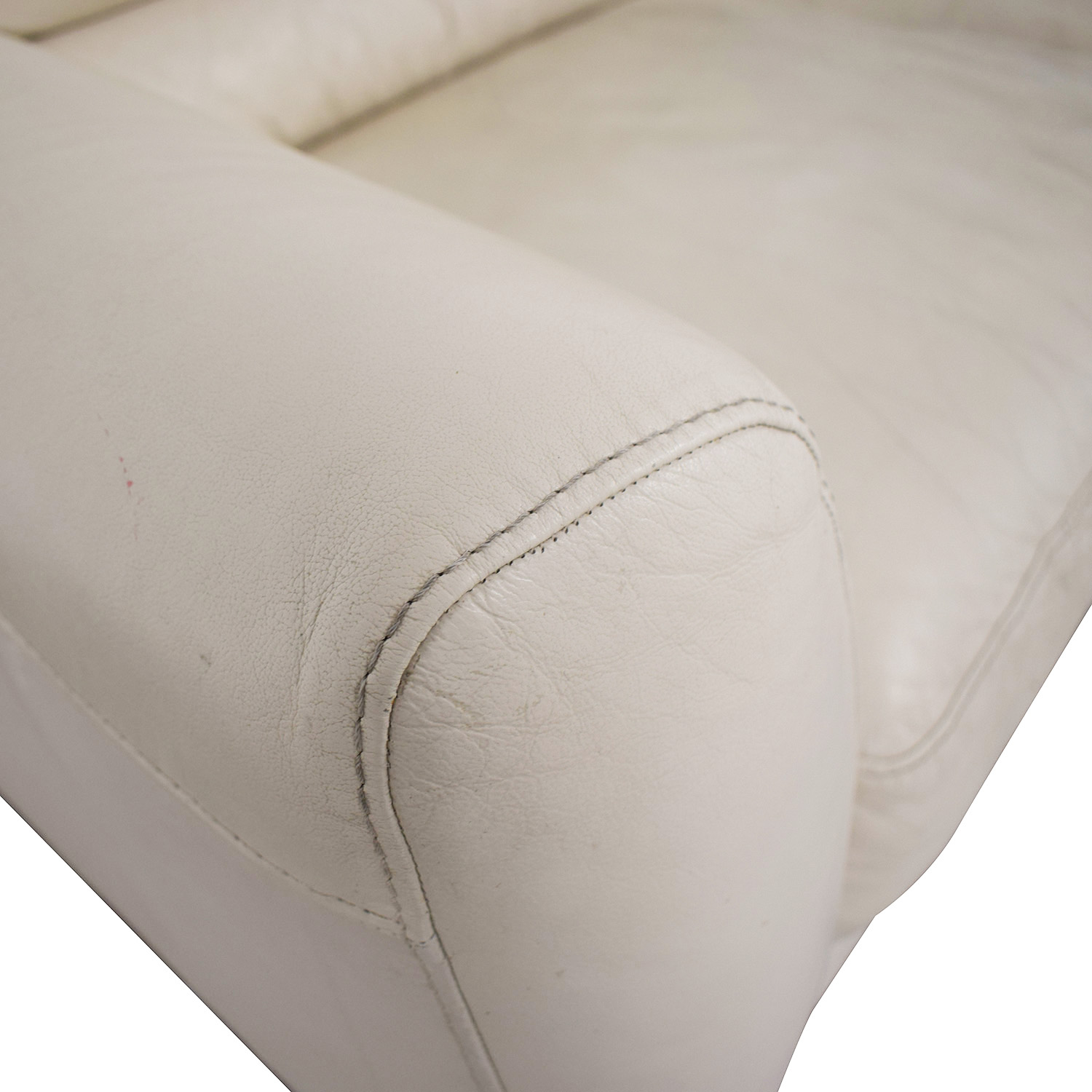 Macy's Macy's White Two-Cushion Sofa coupon