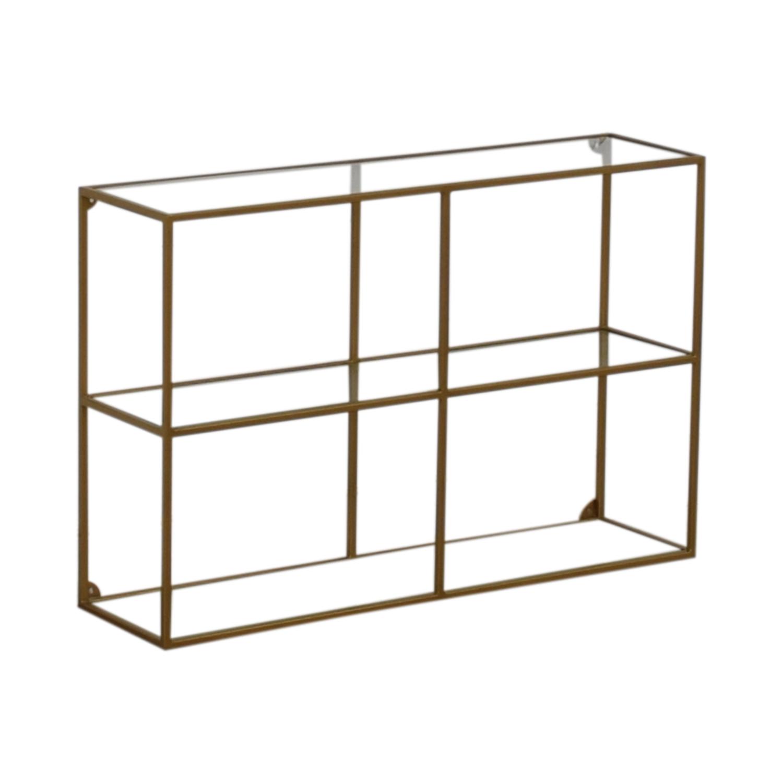 shop World Market Adler Glass & Brass Bookshelf World Market