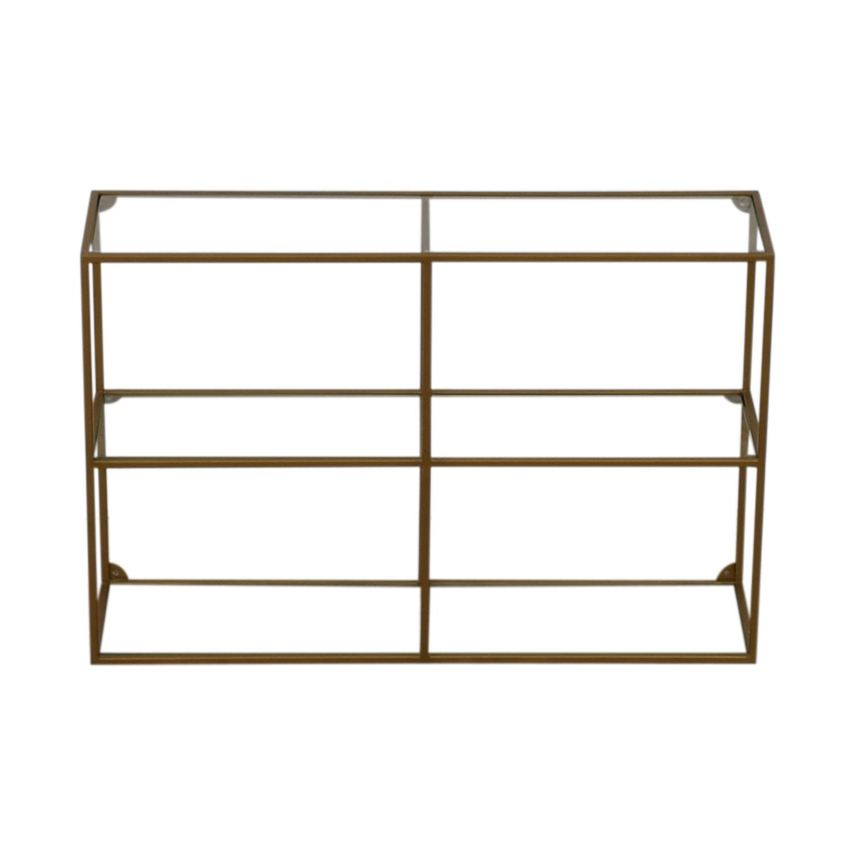 World Market World Market Adler Glass & Brass Bookshelf on sale