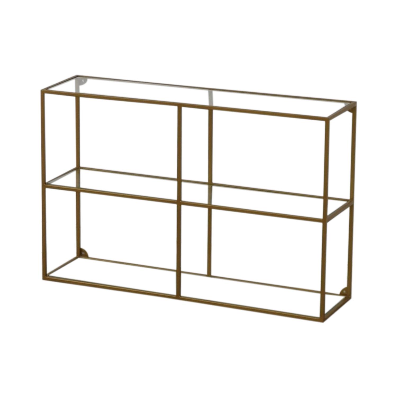 World Market World Market Adler Glass & Brass Bookshelf tan