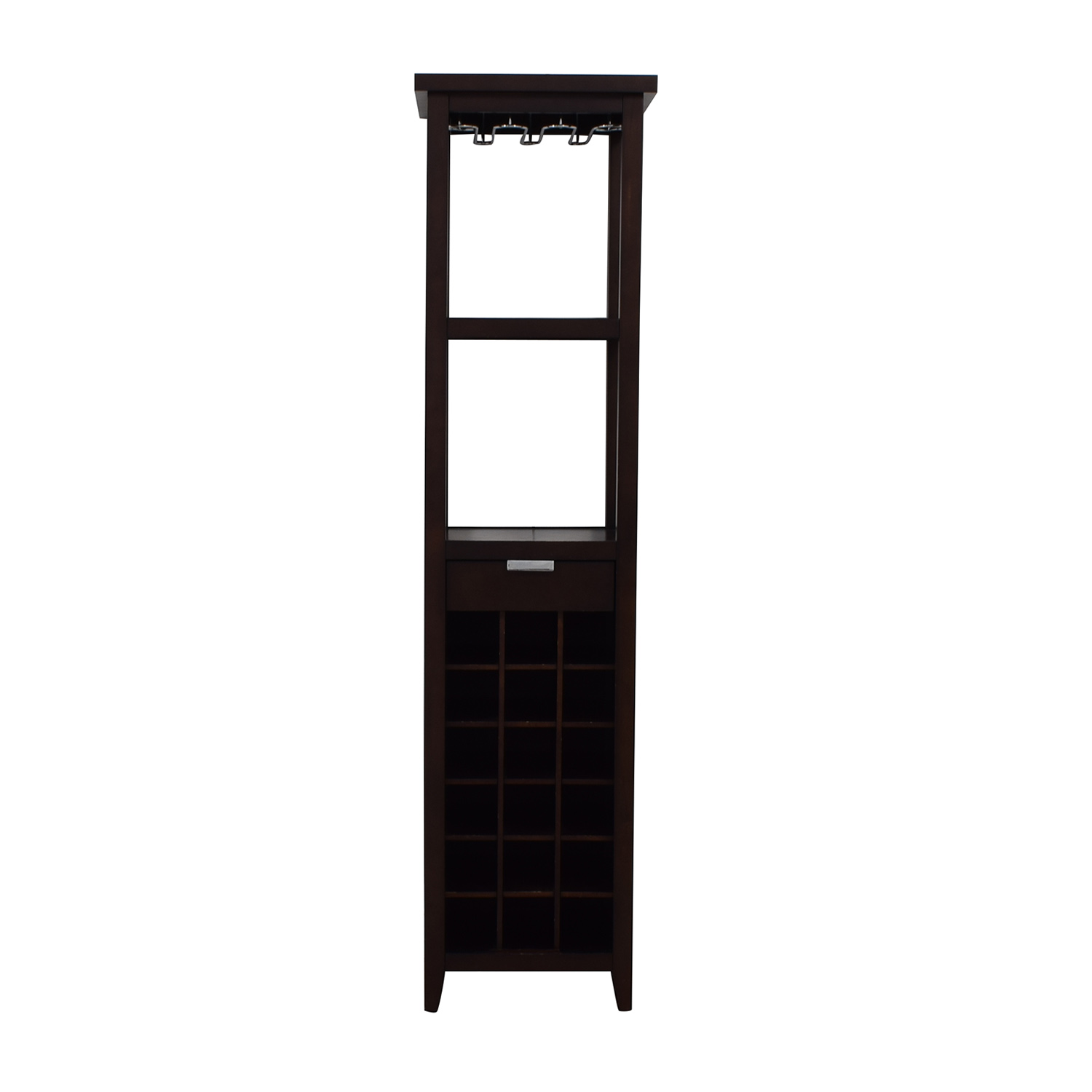 shop Crate & Barrel Slim Wine Tower Crate & Barrel Cabinets & Sideboards