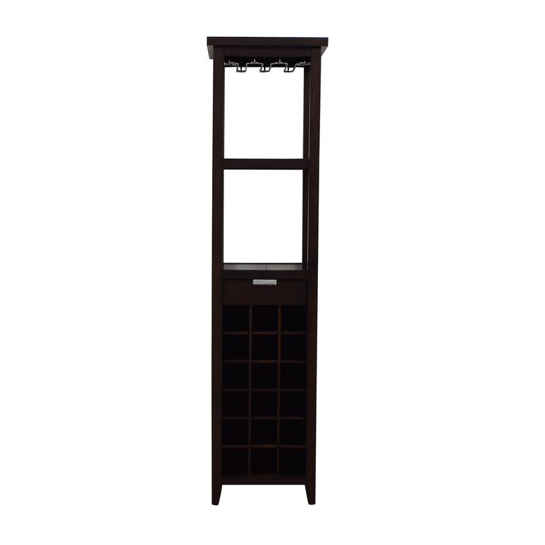 shop Crate & Barrel Slim Wine Tower Crate & Barrel