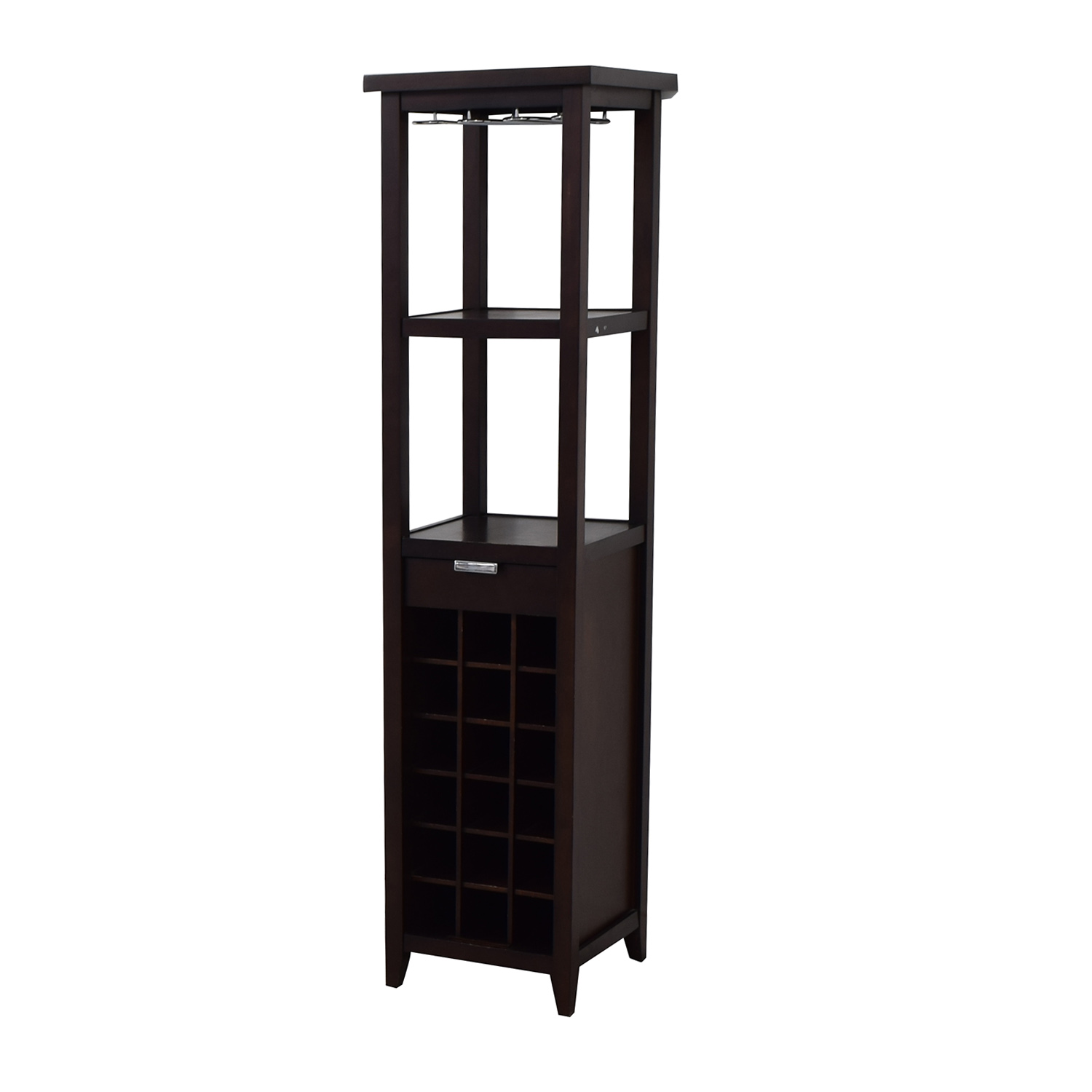 Crate & Barrel Slim Wine Tower / Cabinets & Sideboards