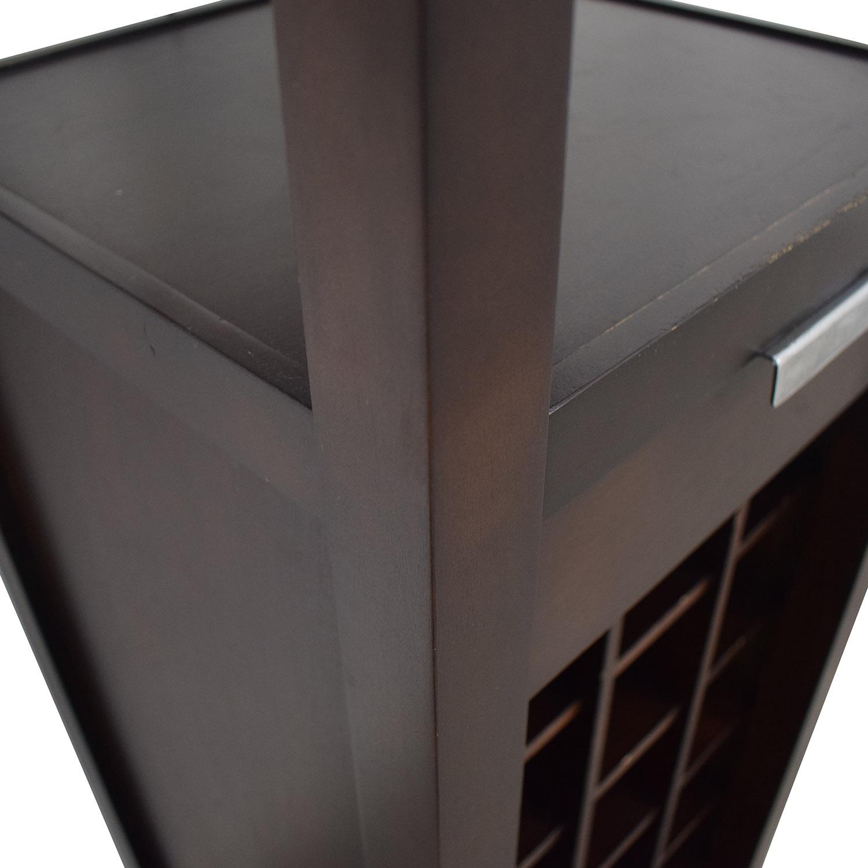 shop Crate & Barrel Slim Wine Tower Crate & Barrel Cabinets & Sideboards