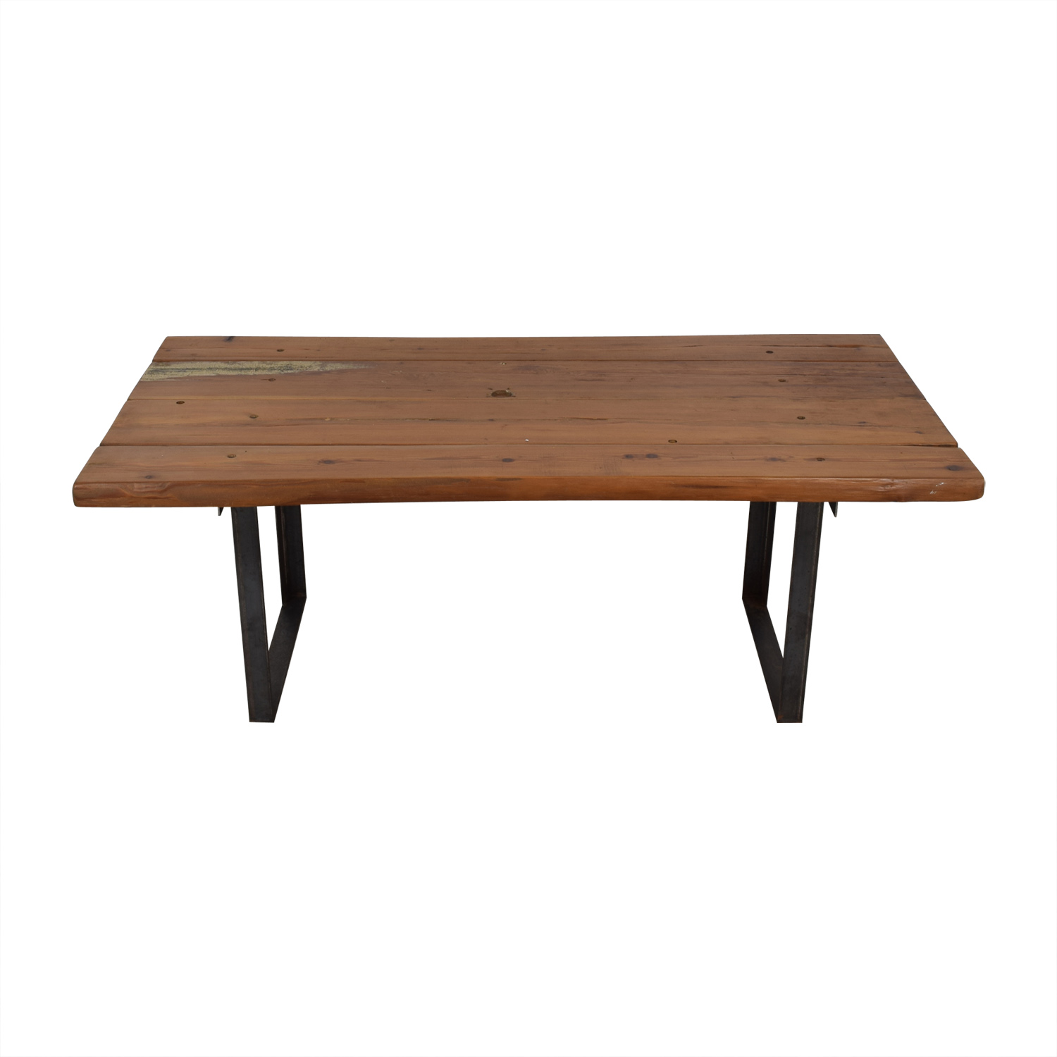 Pascal Benichou Industrial Rustic Wood Dining Table price