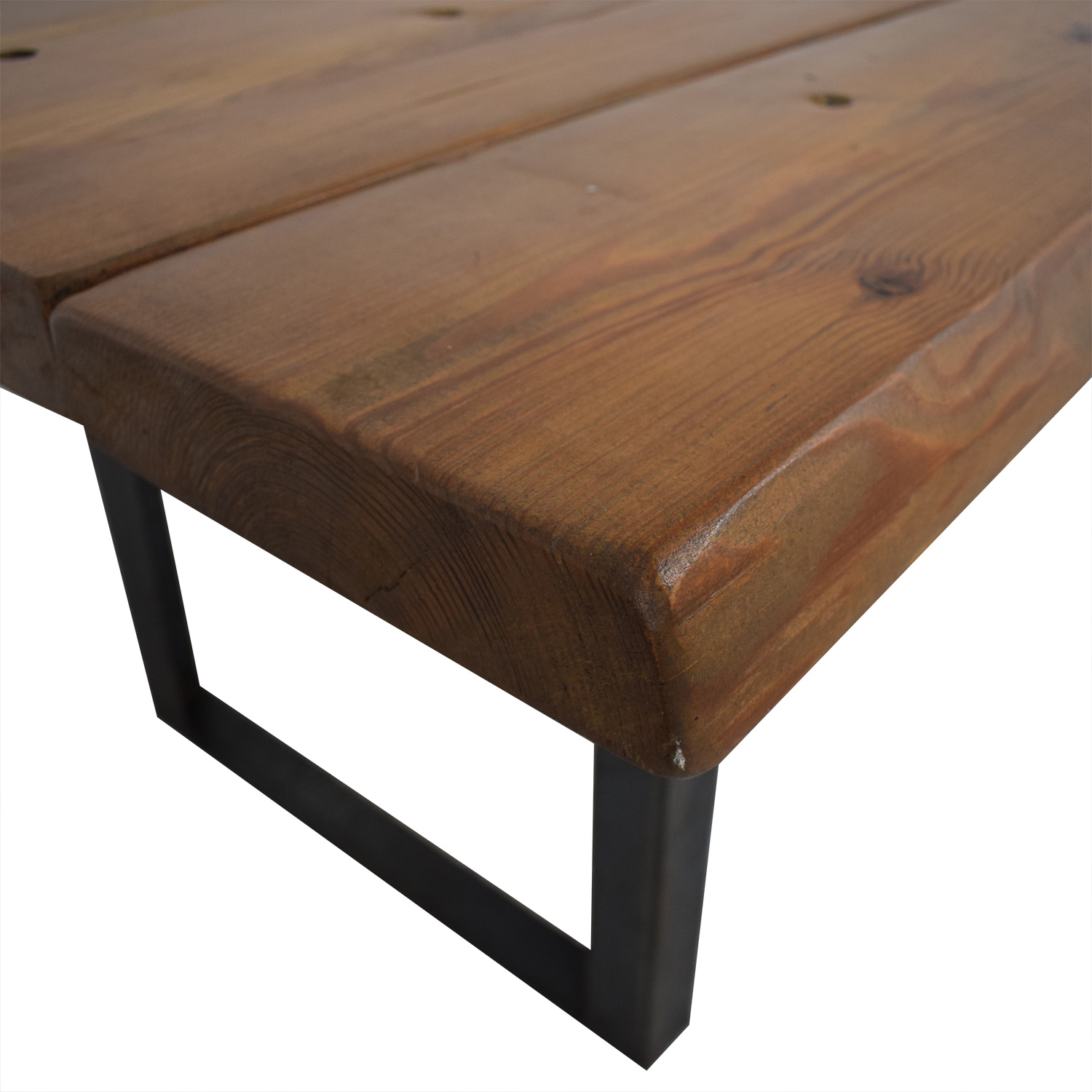 Pascal Benichou Industrial Rustic Wood Dining Table sale