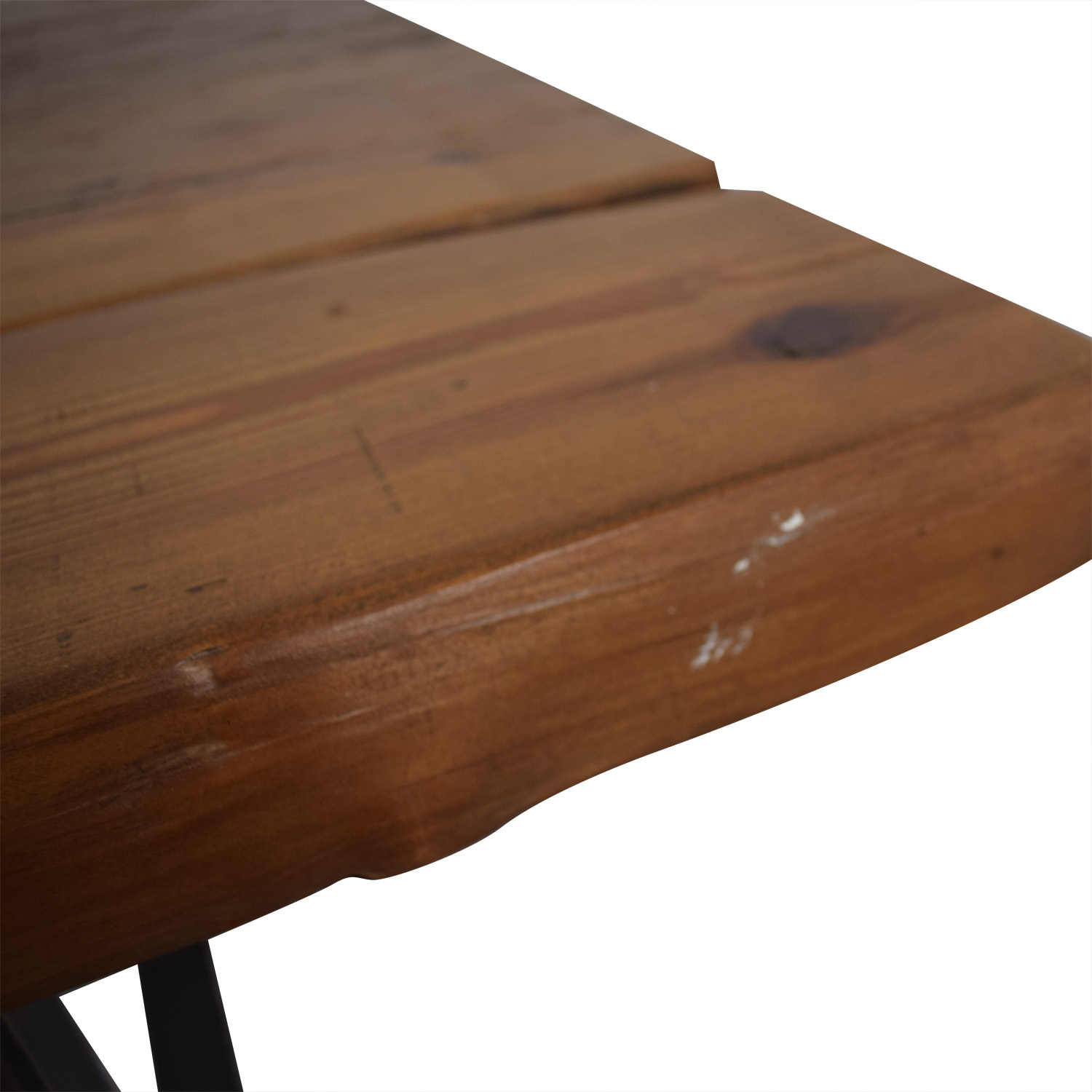 Pascal Benichou Industrial Rustic Wood Dining Table brown