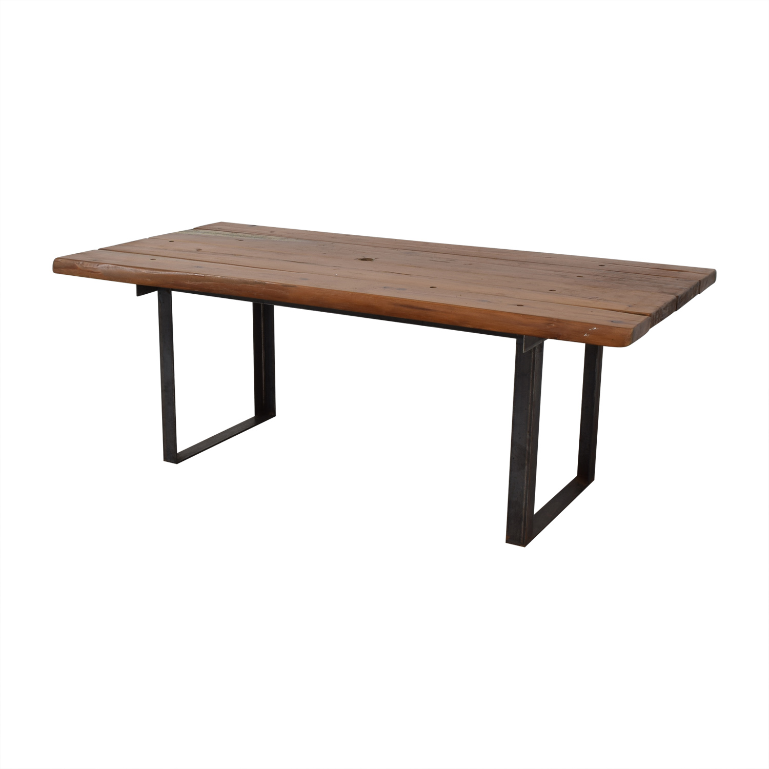 Pascal Benichou Industrial Rustic Wood Dining Table second hand