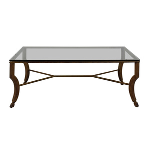 Glass and Metal Coffee Table nyc