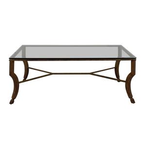 Glass and Metal Coffee Table nyc