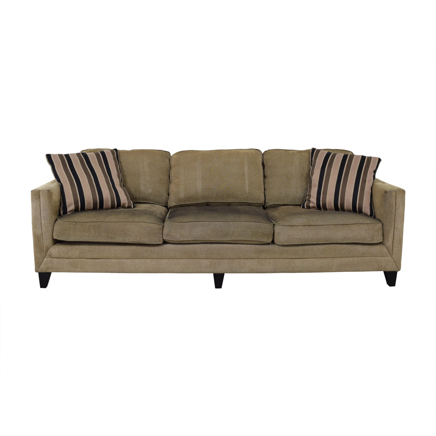 Brown Three-Seater Modern Sofa Sofas