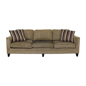 Brown Three-Seater Modern Sofa / Sofas