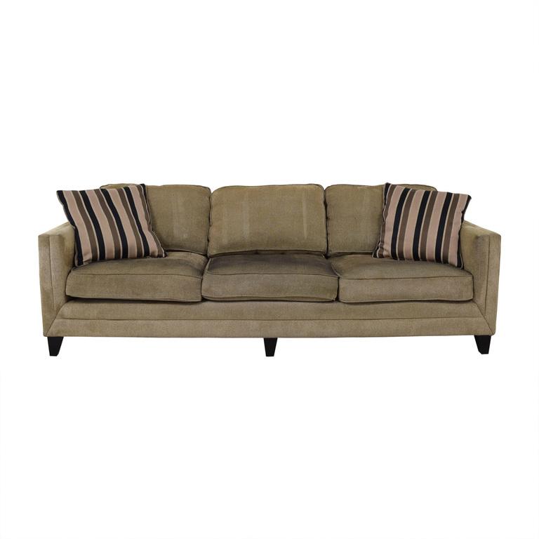 shop Brown Three-Seater Modern Sofa