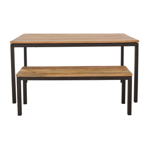 West Elm West Elm Dining Table and Bench discount