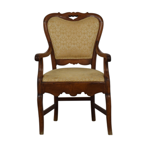 Yellow French Arm Chair nj