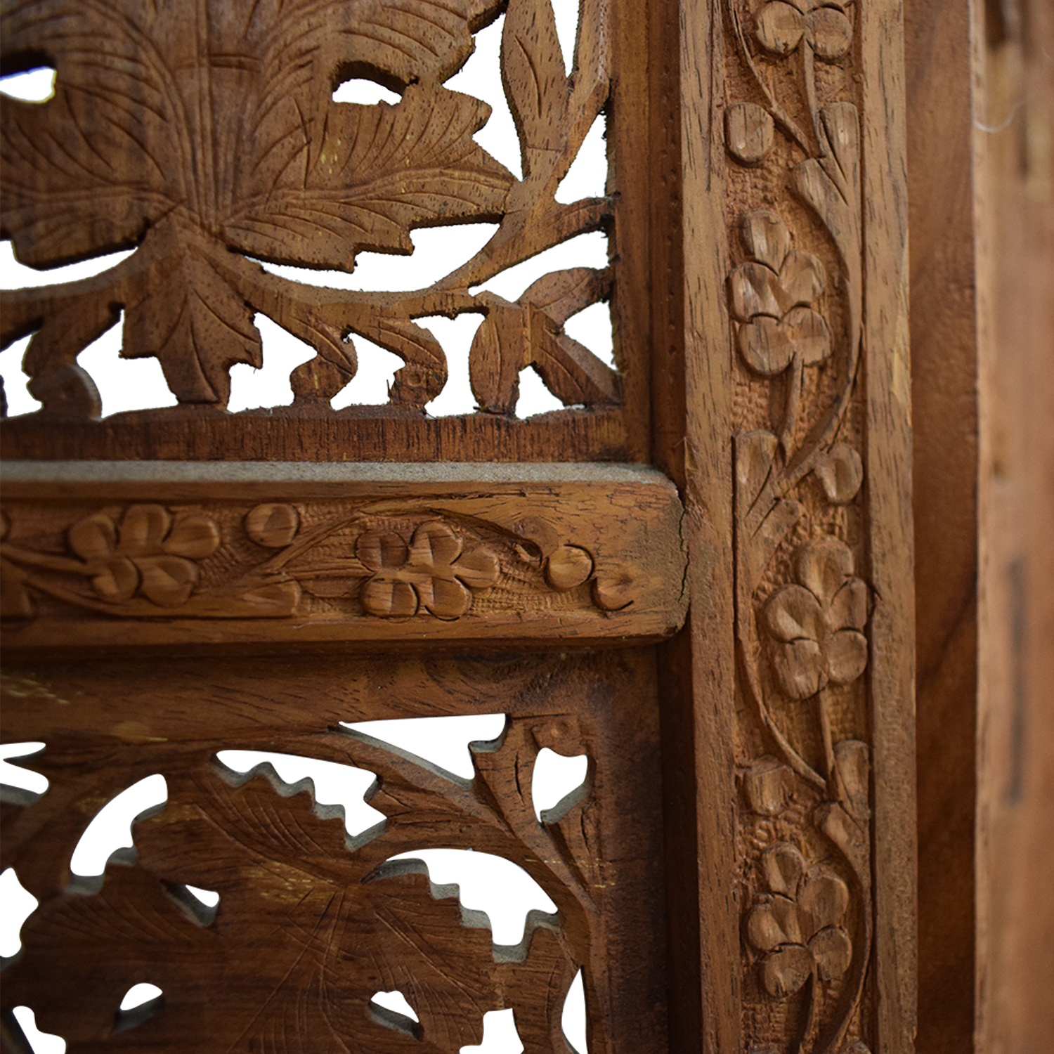 Antique Carved Wood  Screen nyc