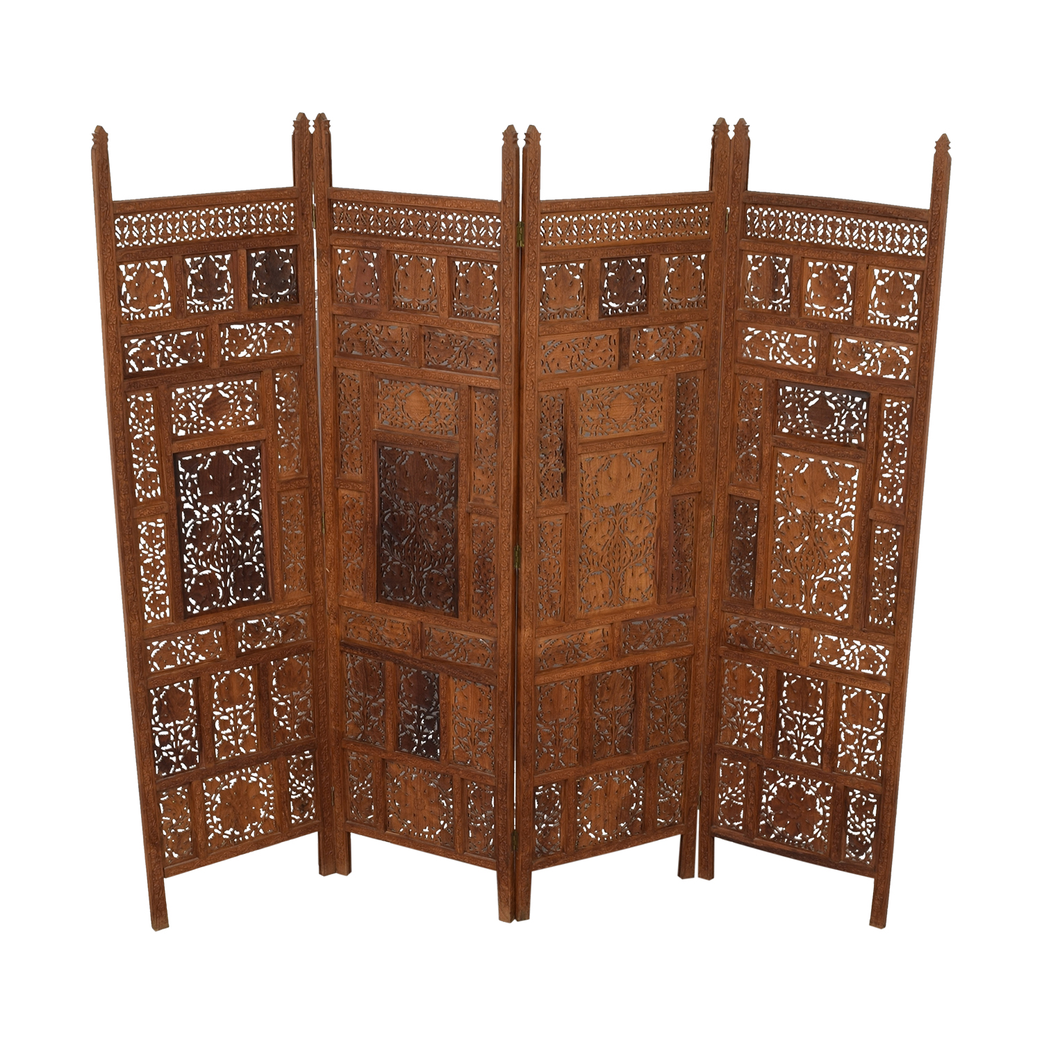 Antique Carved Wood  Screen used