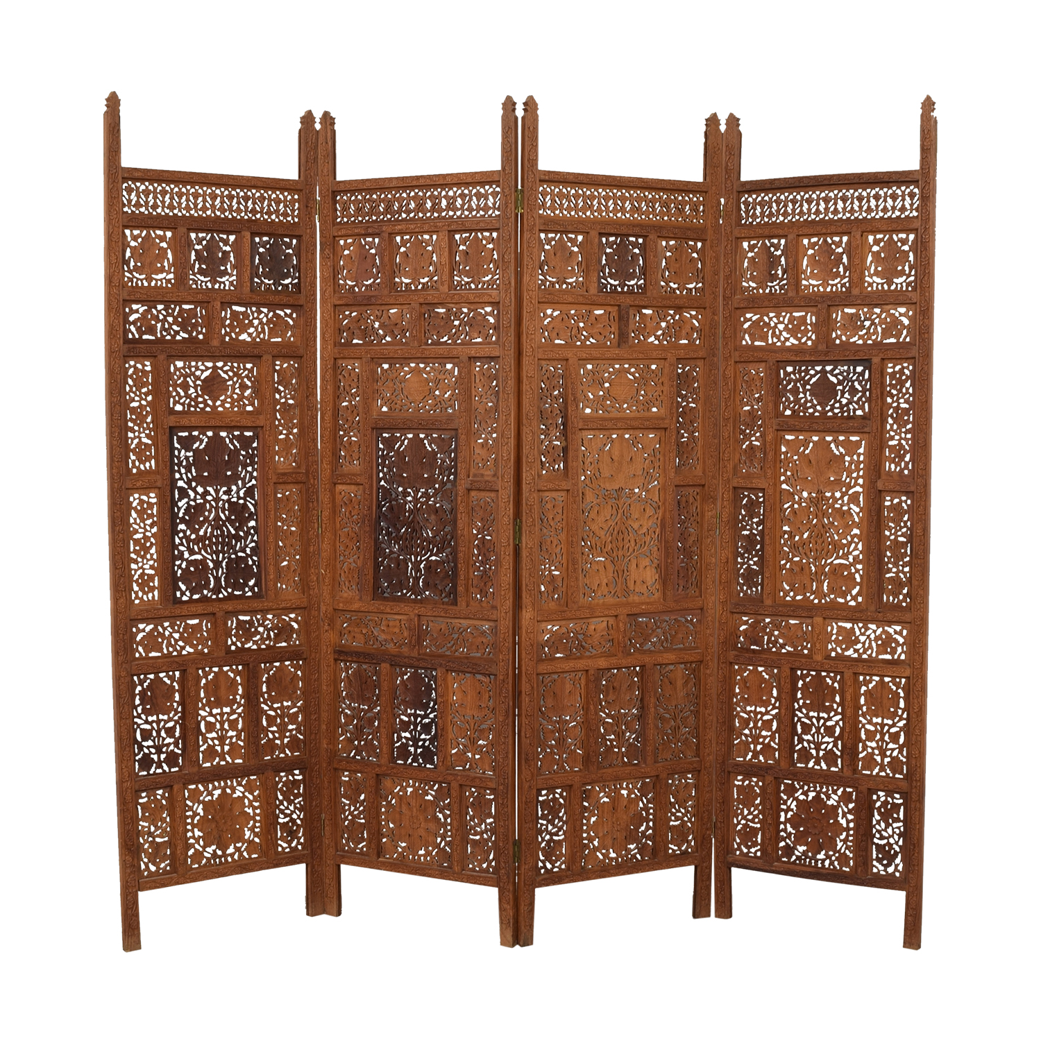 4f87e43d4d7a7 62% OFF - Antique Carved Wood Screen   Decor