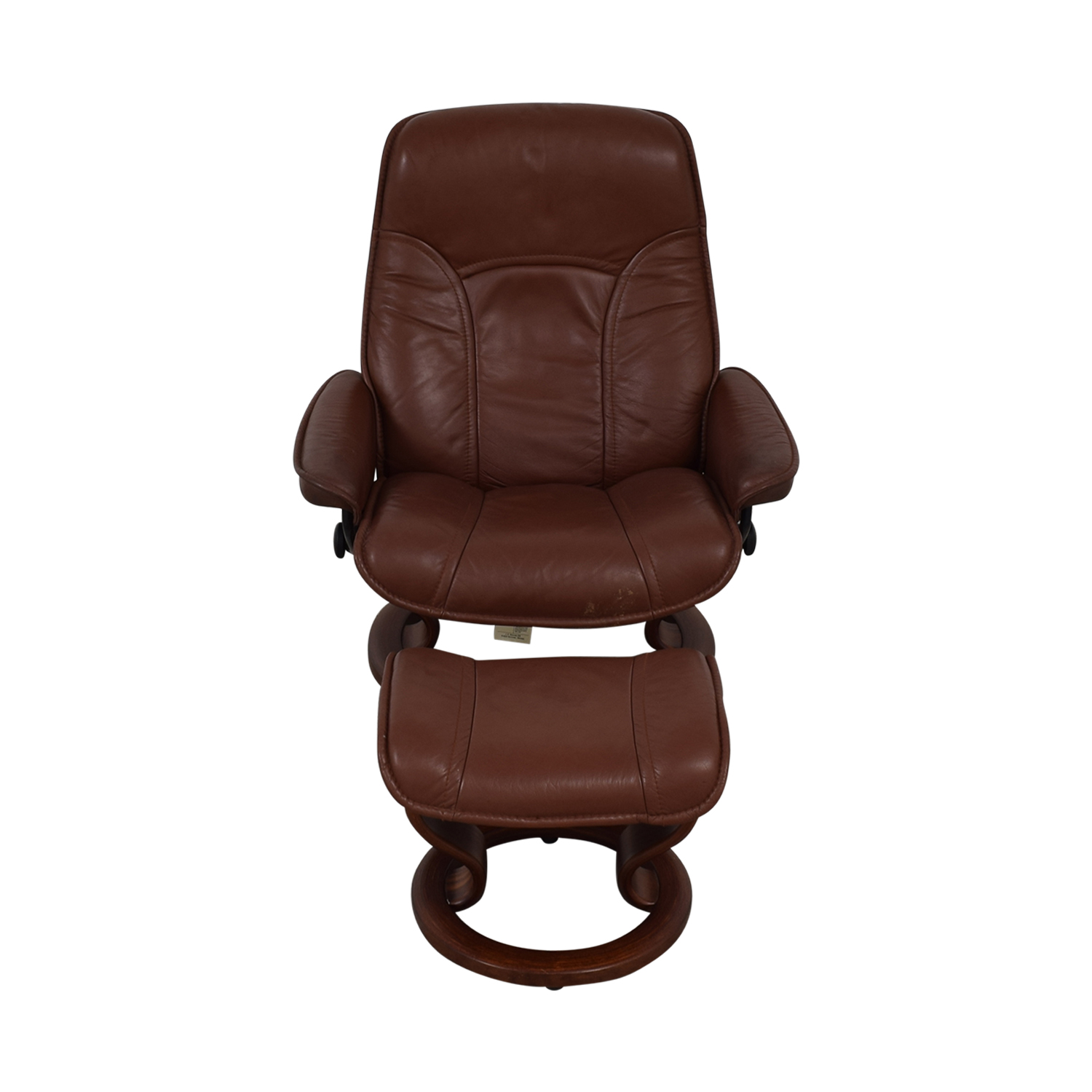 Brown Swivel Chair with Ottoman brown