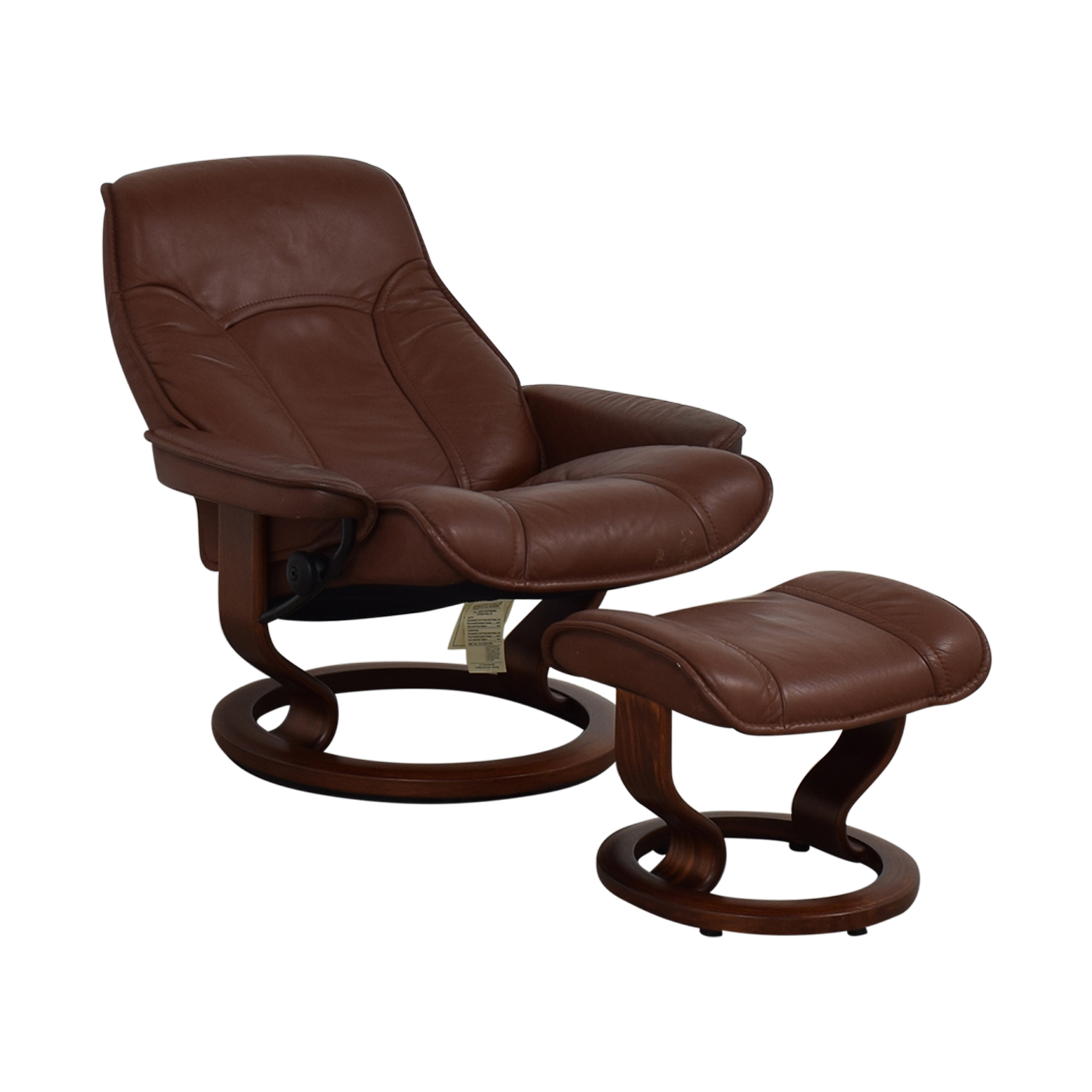 Brown Swivel Chair with Ottoman coupon