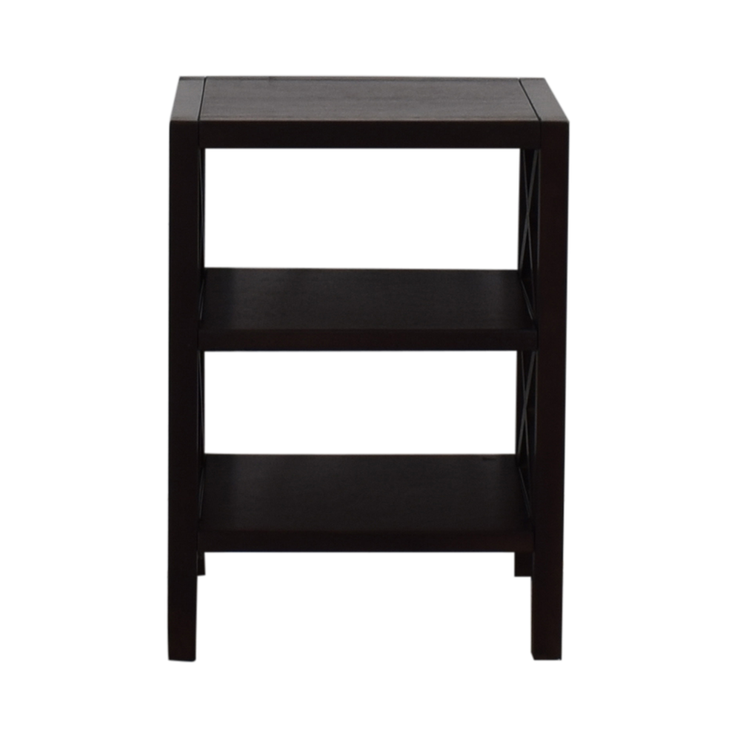 shop Two Shelf End Table