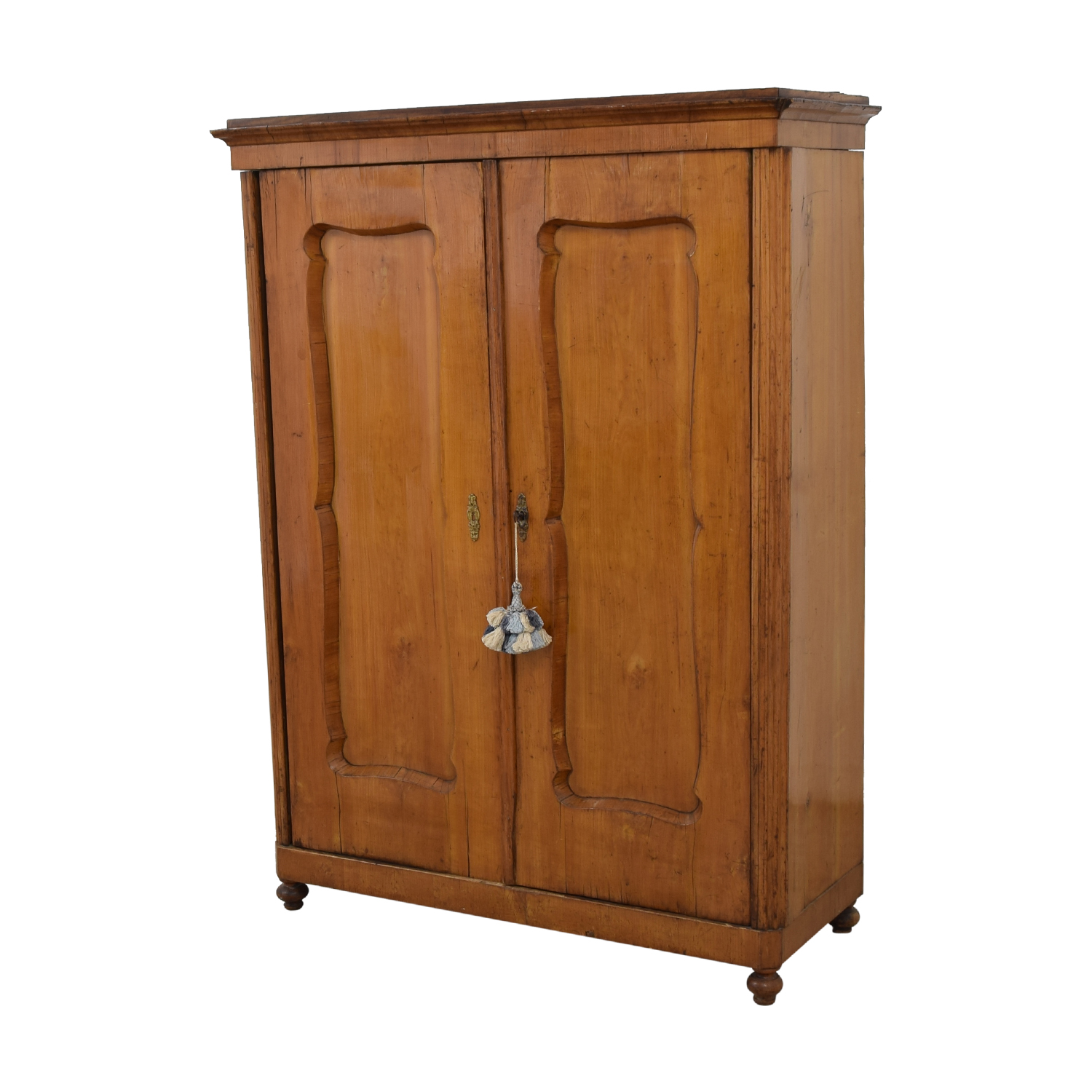Wood Wardrobe Armoire with Shelves for sale