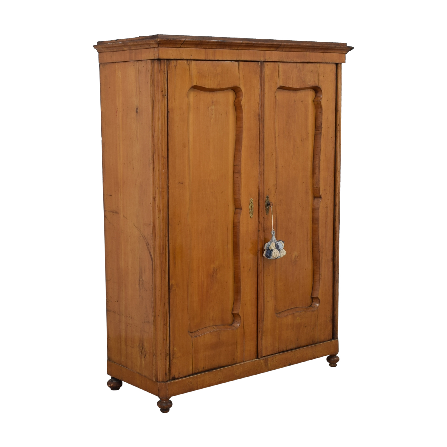 Wood Wardrobe Armoire with Shelves nyc