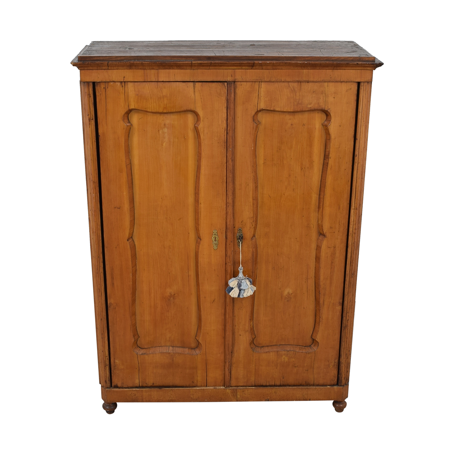 Wood Wardrobe Armoire with Shelves dimensions