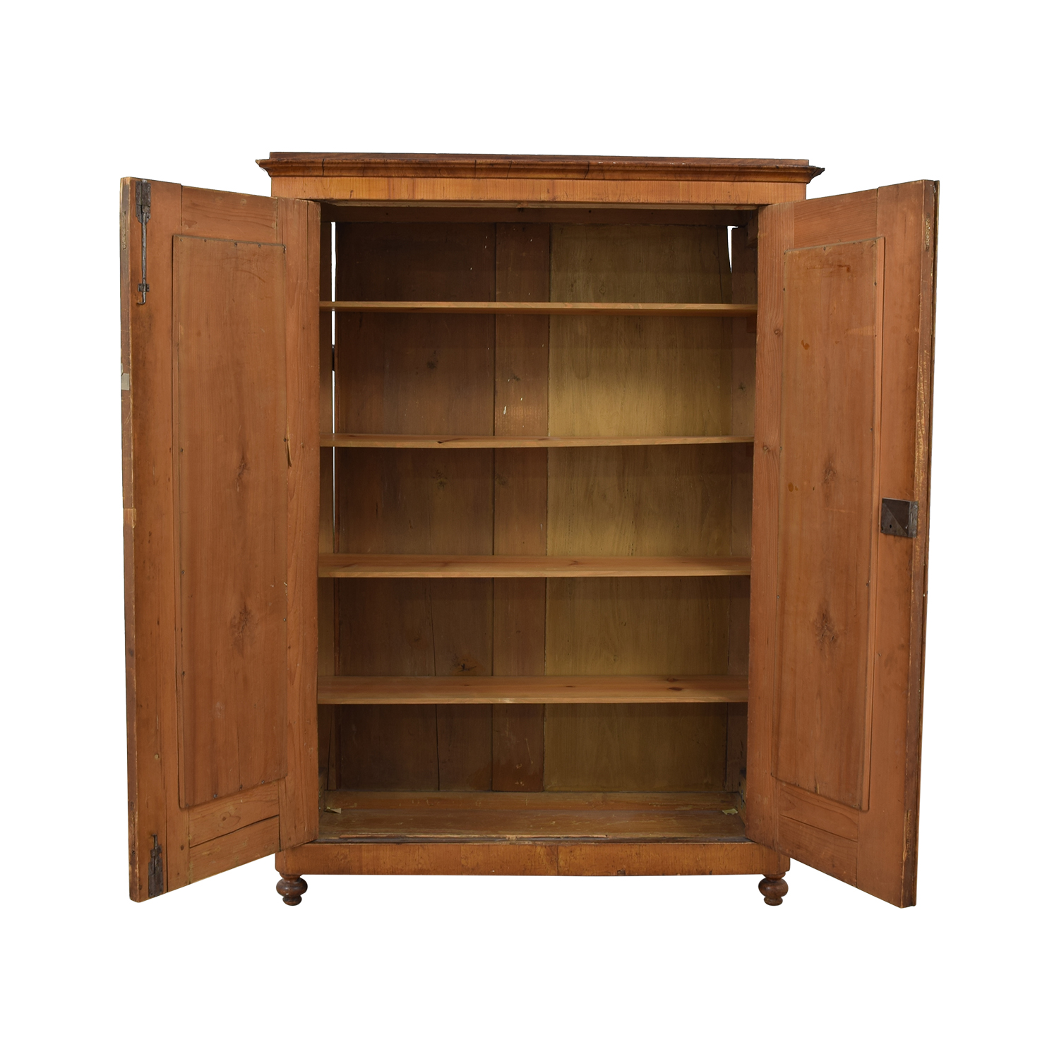 Wood Wardrobe Armoire with Shelves Wardrobes & Armoires