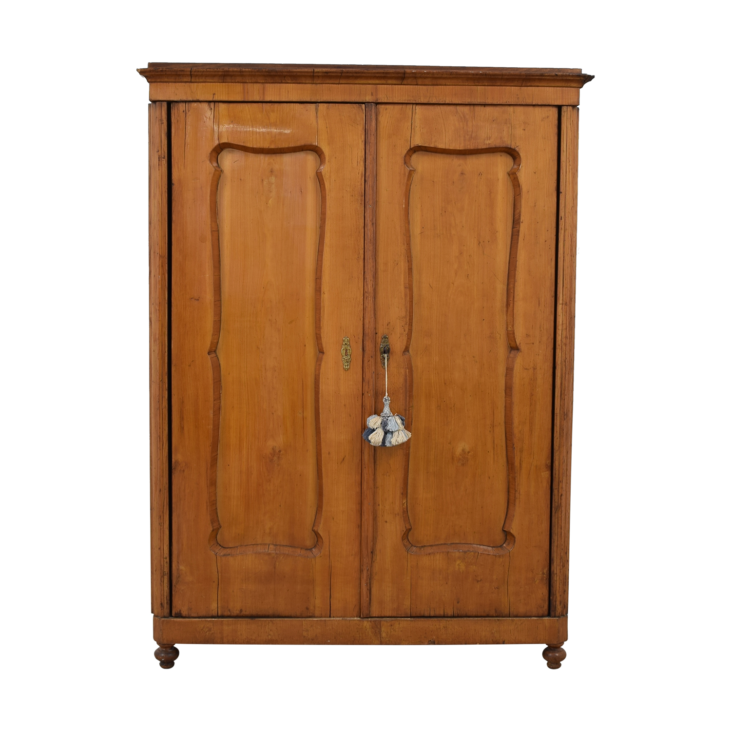 Wood Wardrobe Armoire with Shelves nj