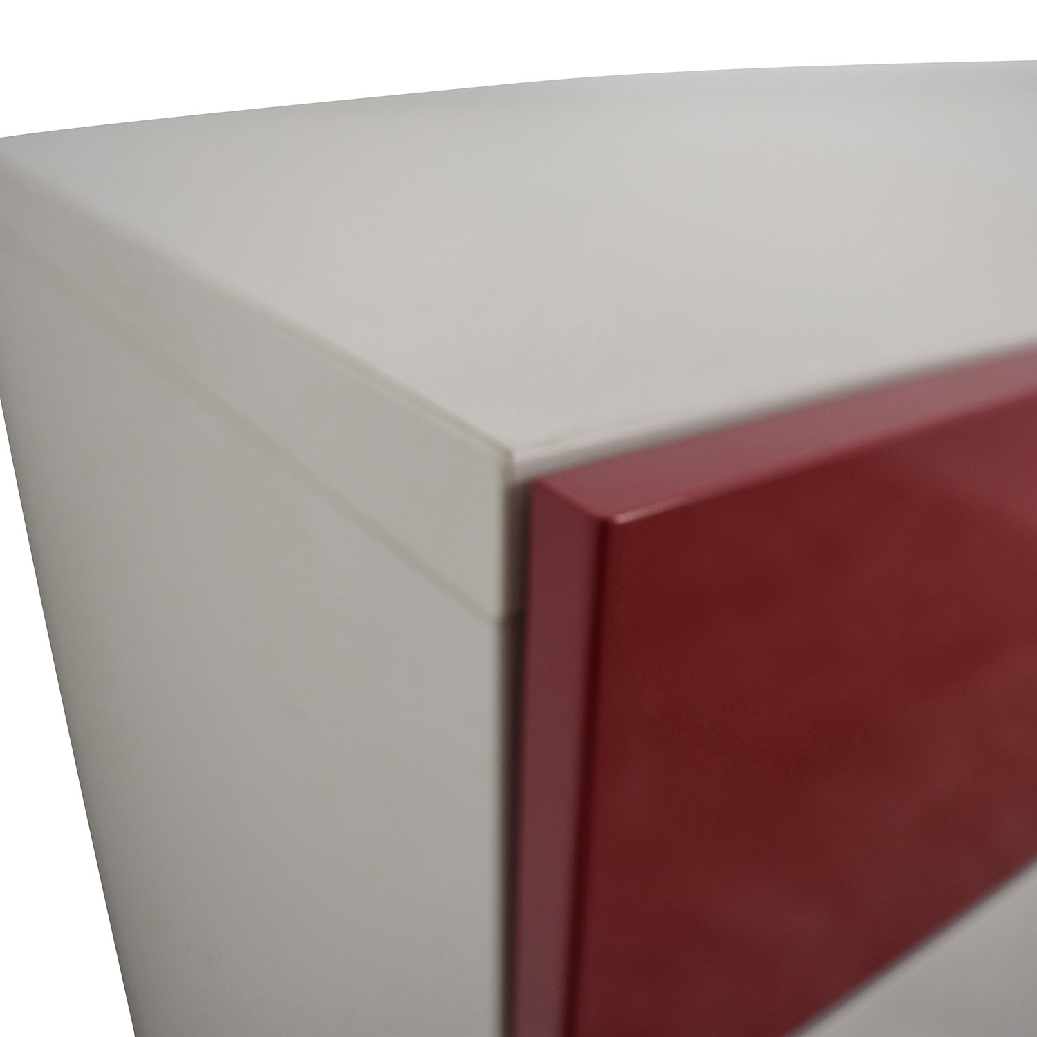 IKEA IKEA Red and White Four-Drawer Storage Unit price