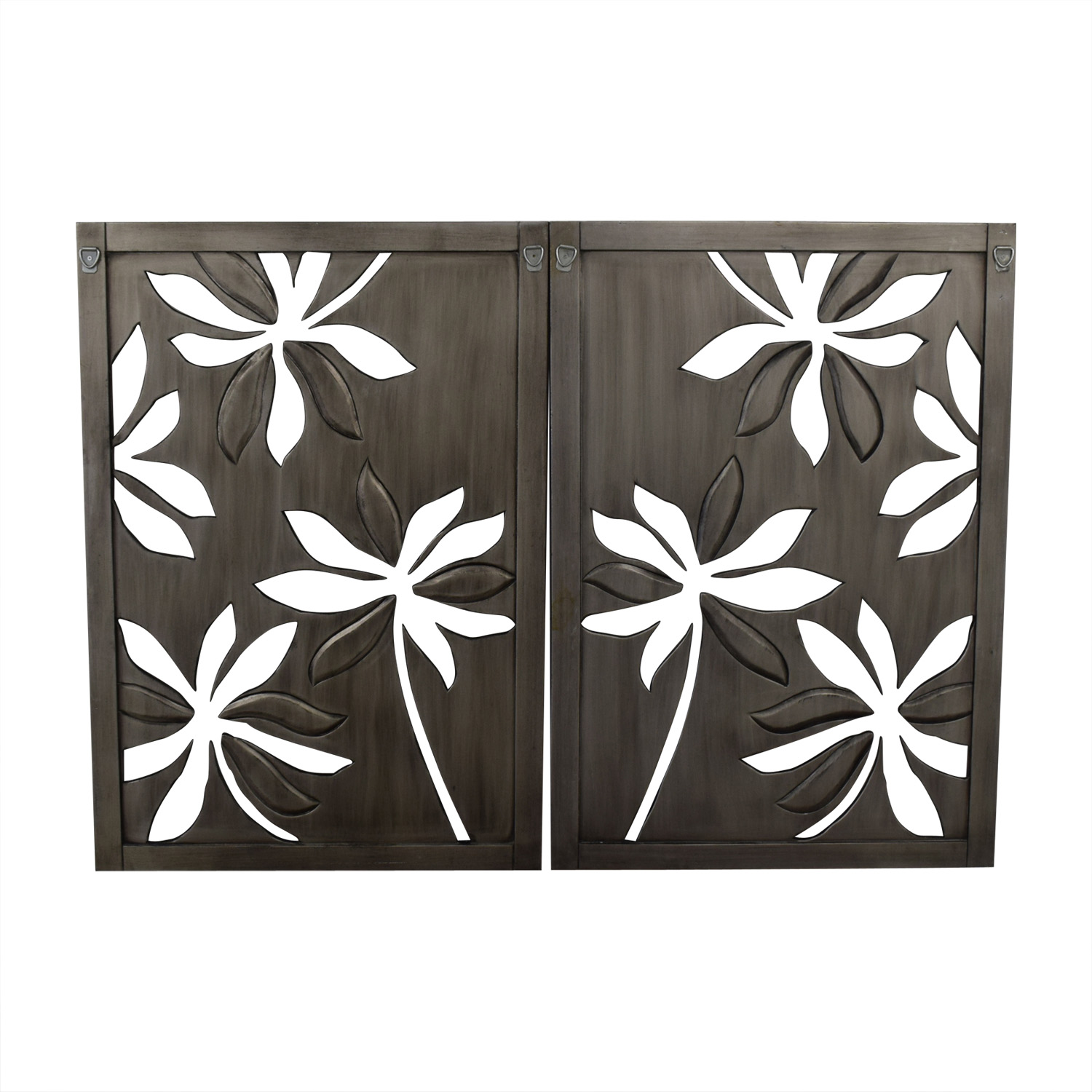Pier 1 Pier 1 Open Carved Floral Flower Wall Art nyc