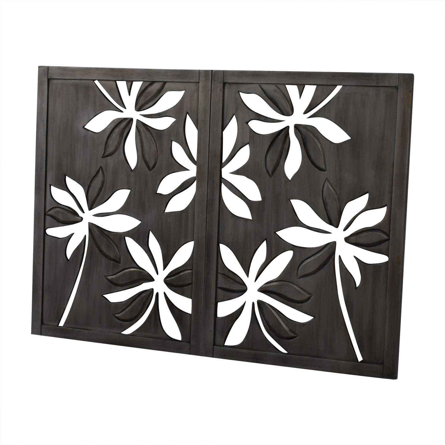 Pier 1 Pier 1 Open Carved Floral Flower Wall Art used