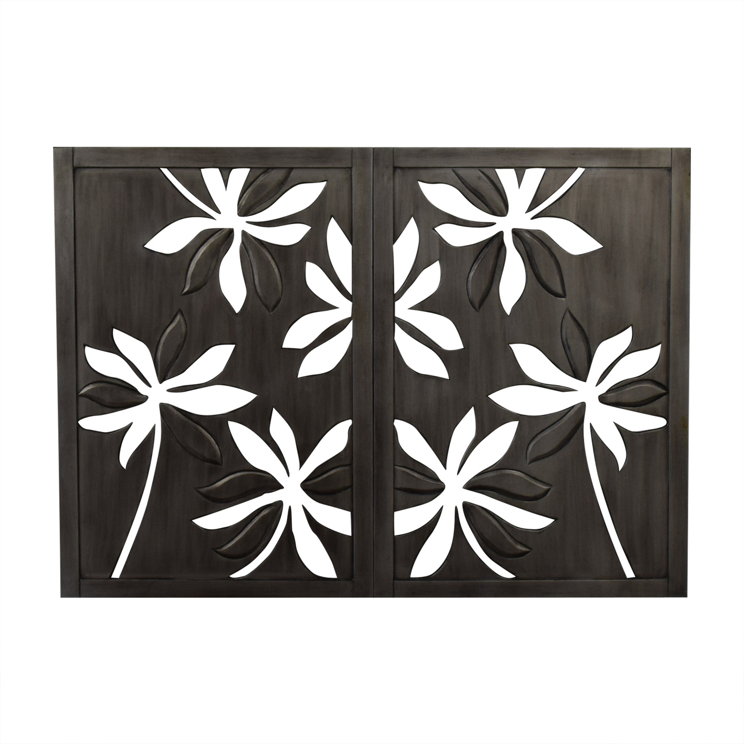 shop Pier 1 Pier 1 Open Carved Floral Flower Wall Art online