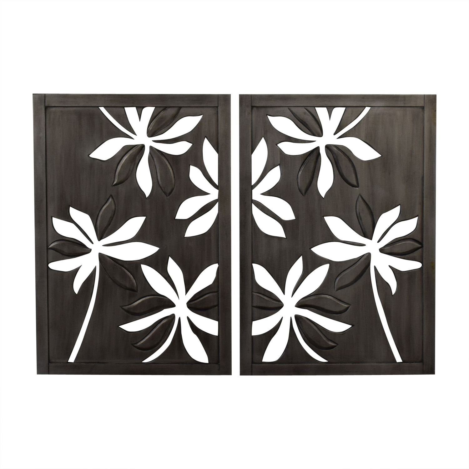 Pier 1 Pier 1 Open Carved Floral Flower Wall Art dimensions