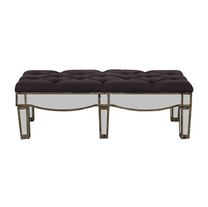 buy  Mirrored Slate Tufted Ottoman online