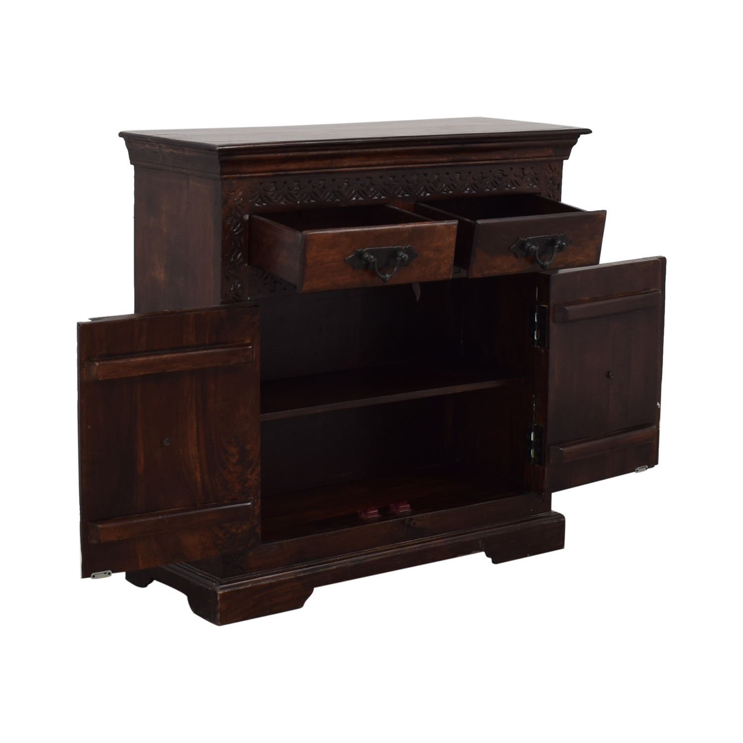 Wood Four-Drawer TV Stand