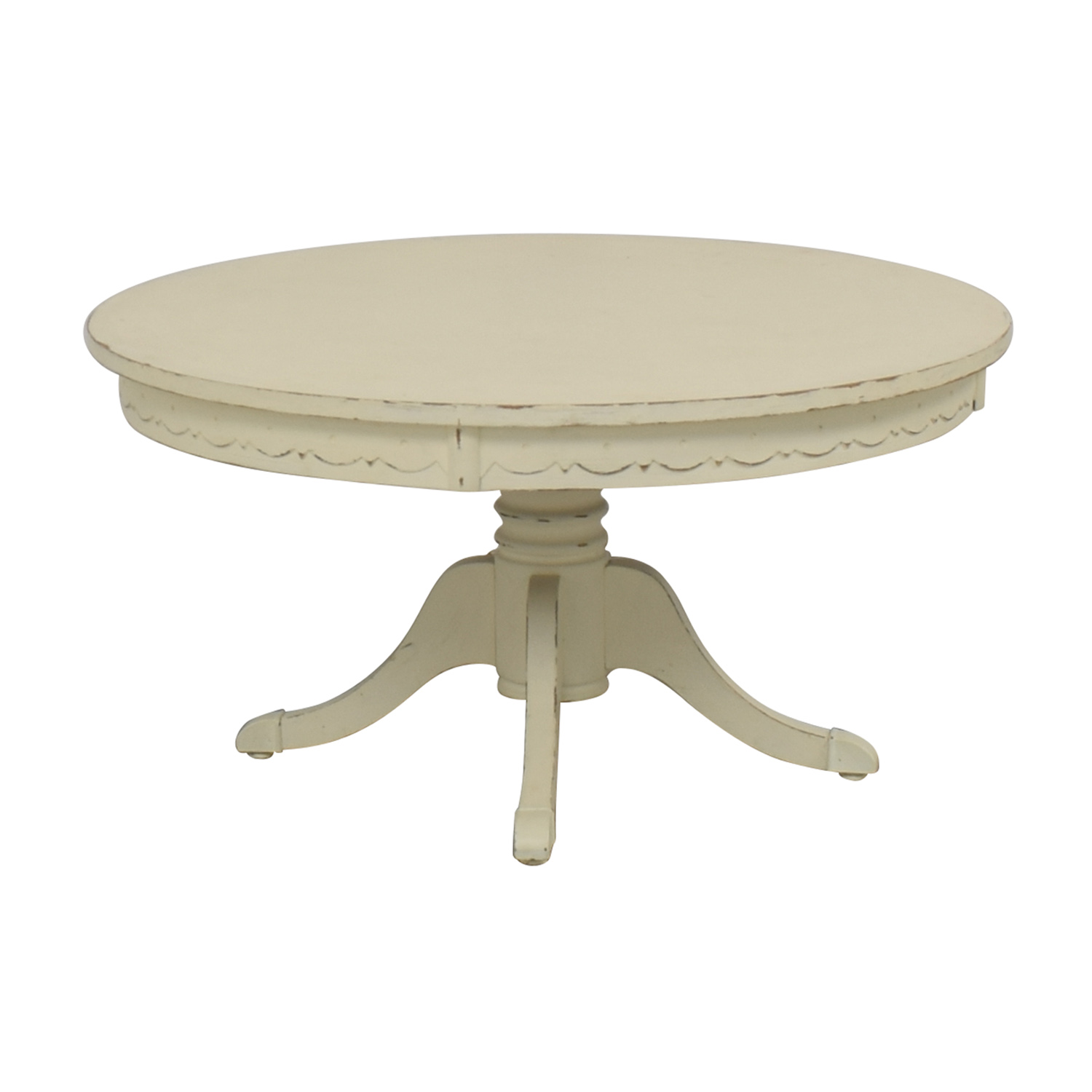 Rustic Cream Coffee Table discount