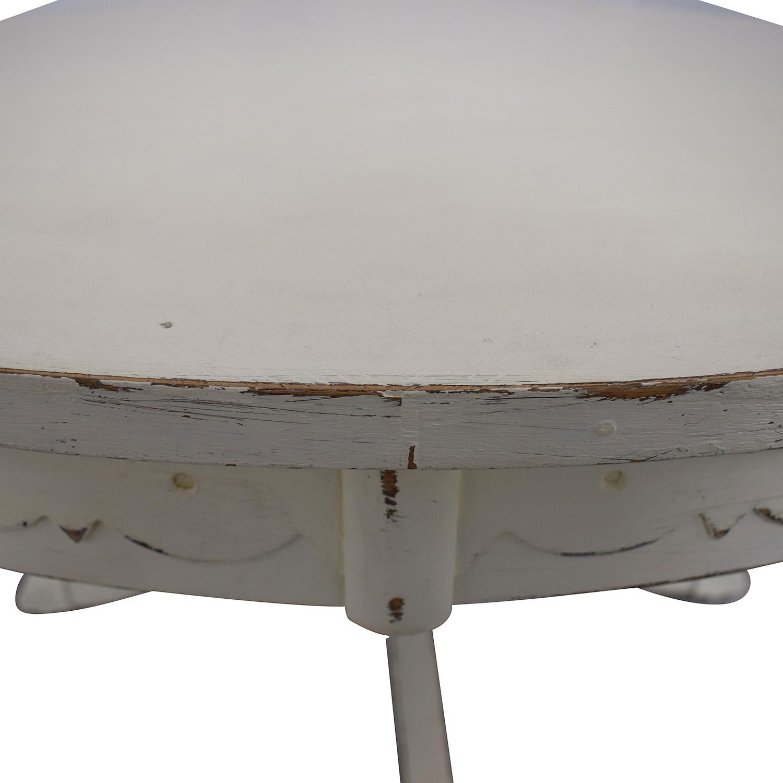 Rustic Cream Coffee Table on sale
