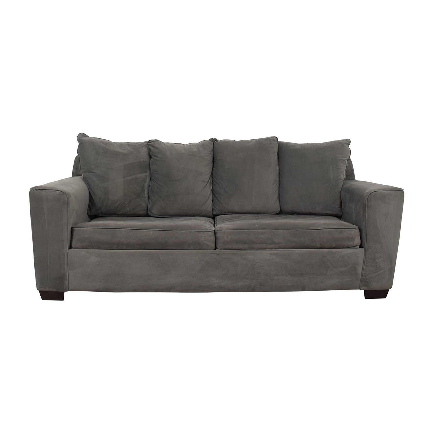 Jennifer Furniture Grey Sofa with Queen Pullout Convertible Jennifer Furniture