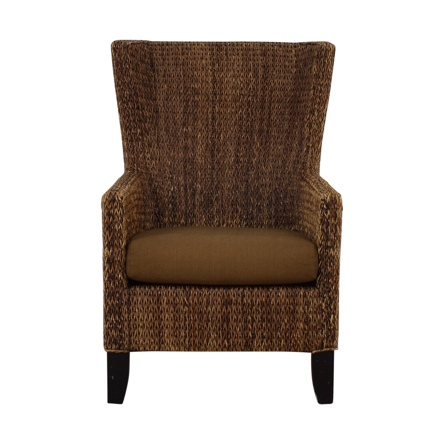 Crate & Barrel Crate & Barrel Fiji Woven Chair With Cushion