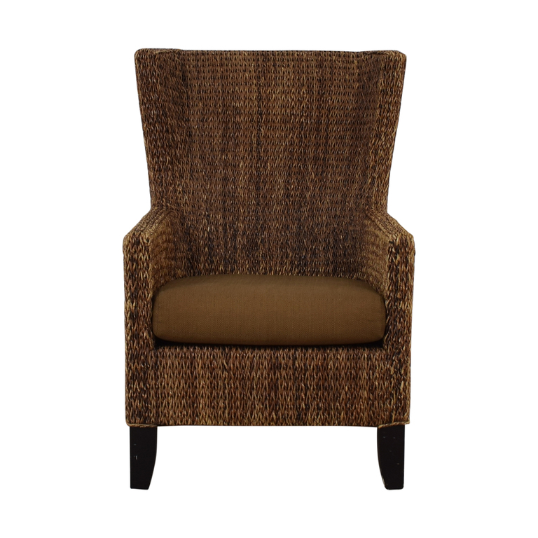 Crate & Barrel Crate & Barrel Fiji Woven Chair With Cushion nyc