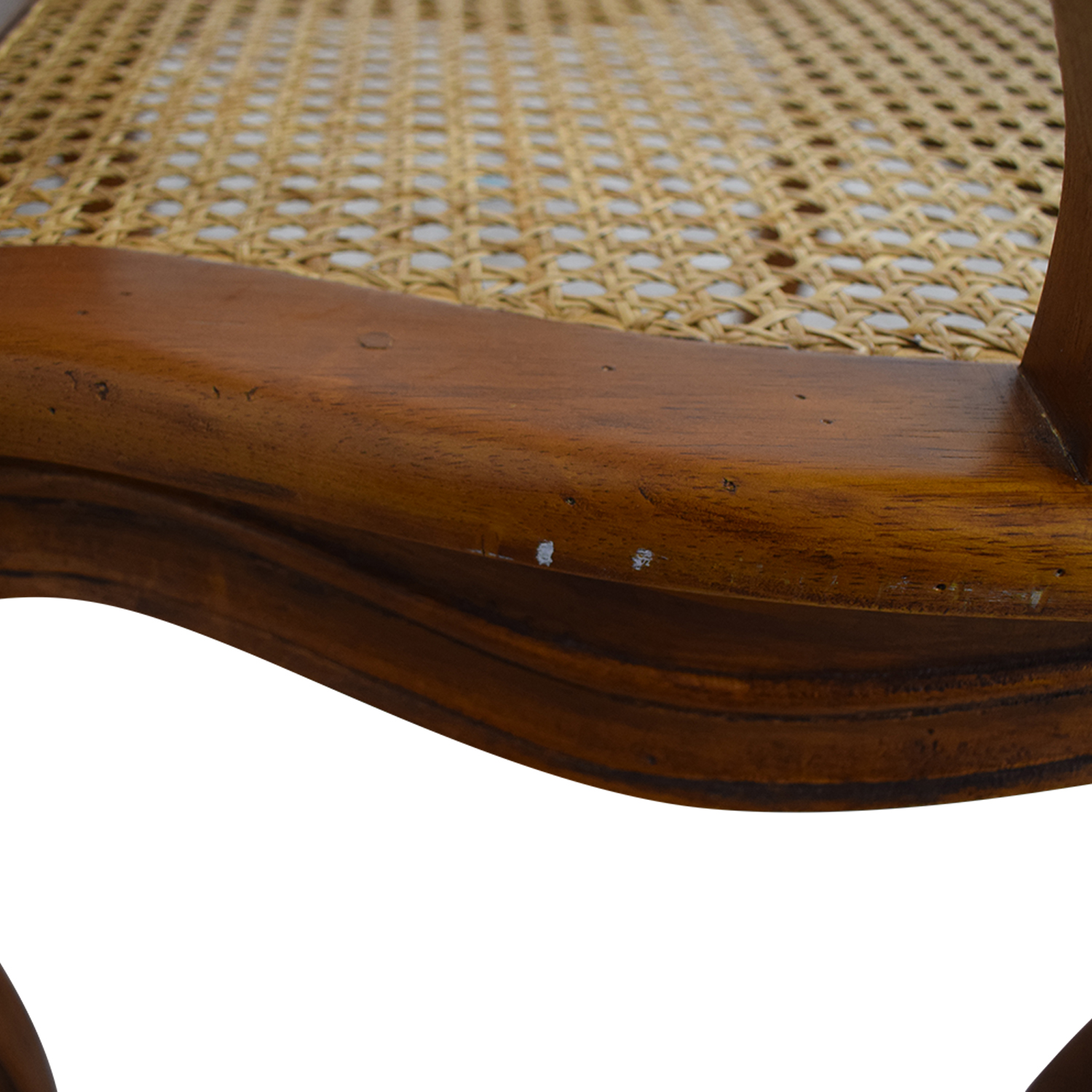 buy French Wood Cane Accent Chair  Chairs