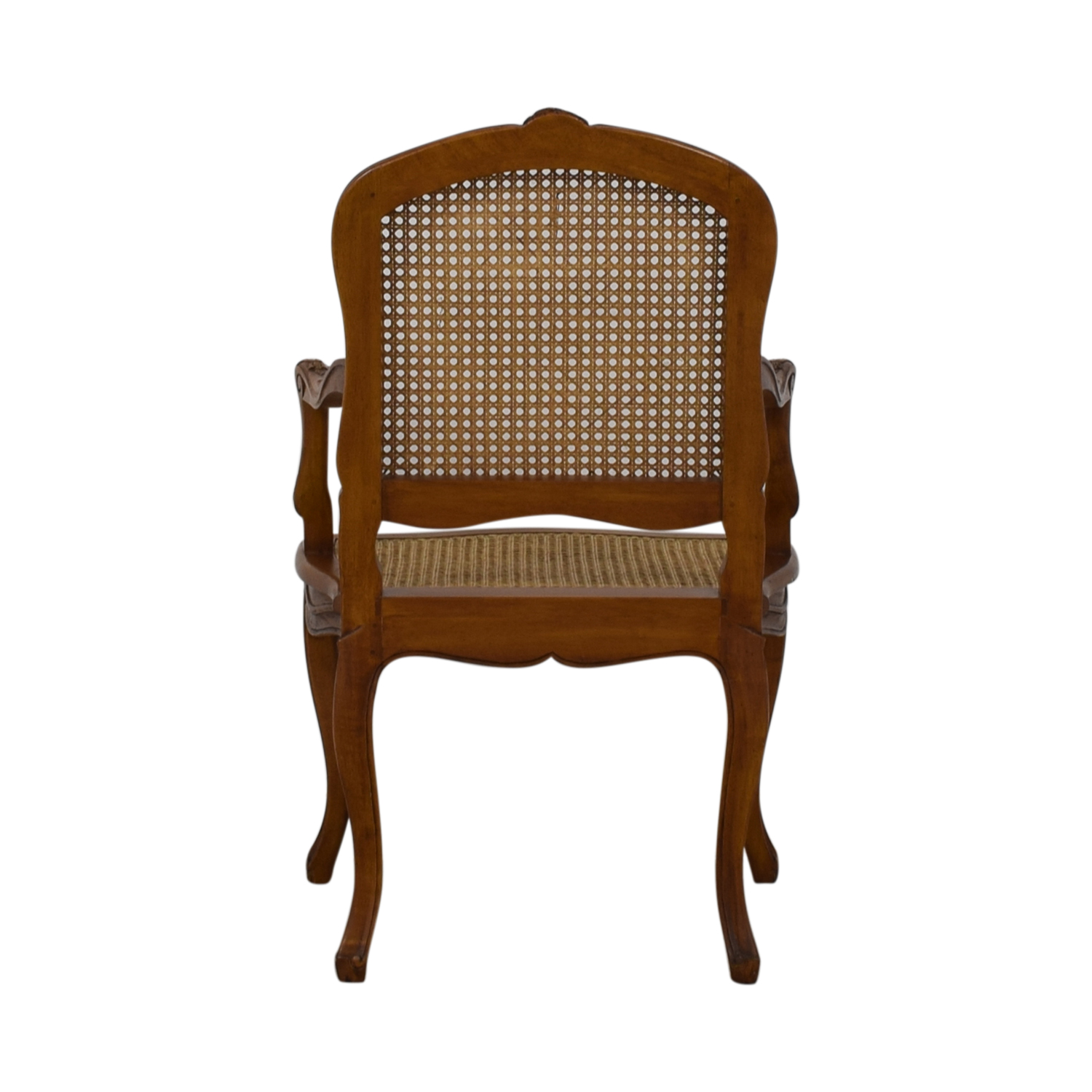 French Wood Cane Accent Chair for sale