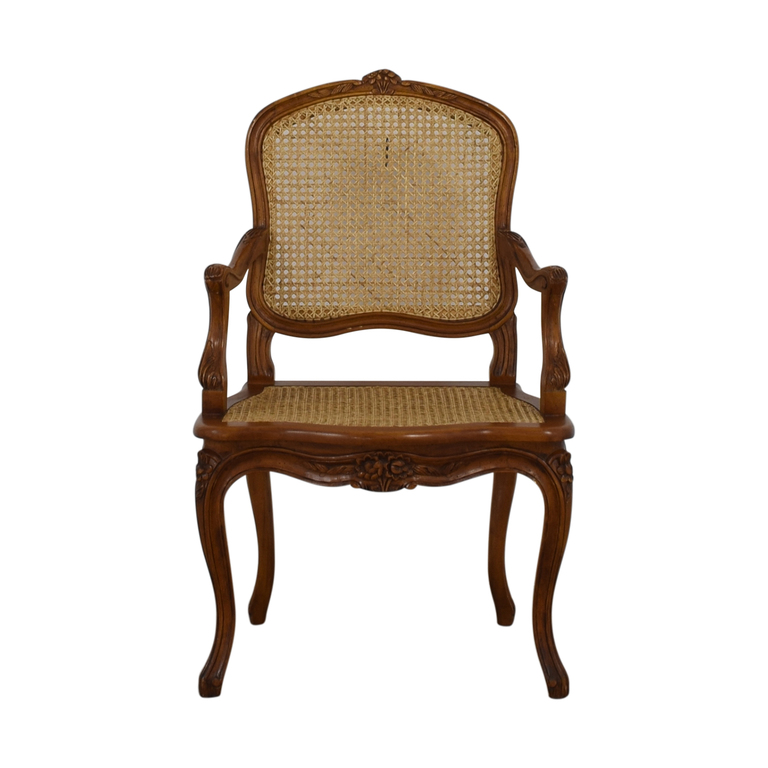 shop French Wood Cane Accent Chair  Chairs